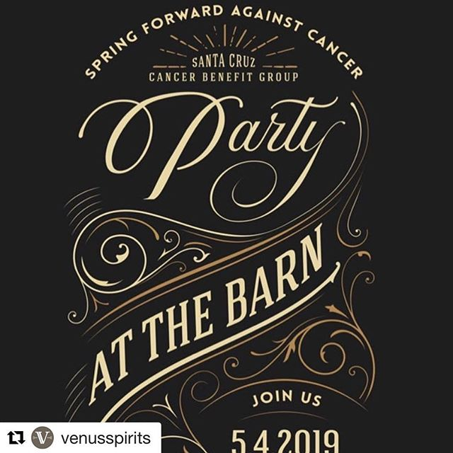 #Repost @venusspirits with @get_repost ・・・ Tickets are still available for this years Spring Forward Against Cancer whiskey themed event that supports cancer research and community cancer support. All money raised goes back into the Santa Cruz Community. Link to tickets in profile. #waywardwhiskey #fuckcancer #santacruz #ucscbarn