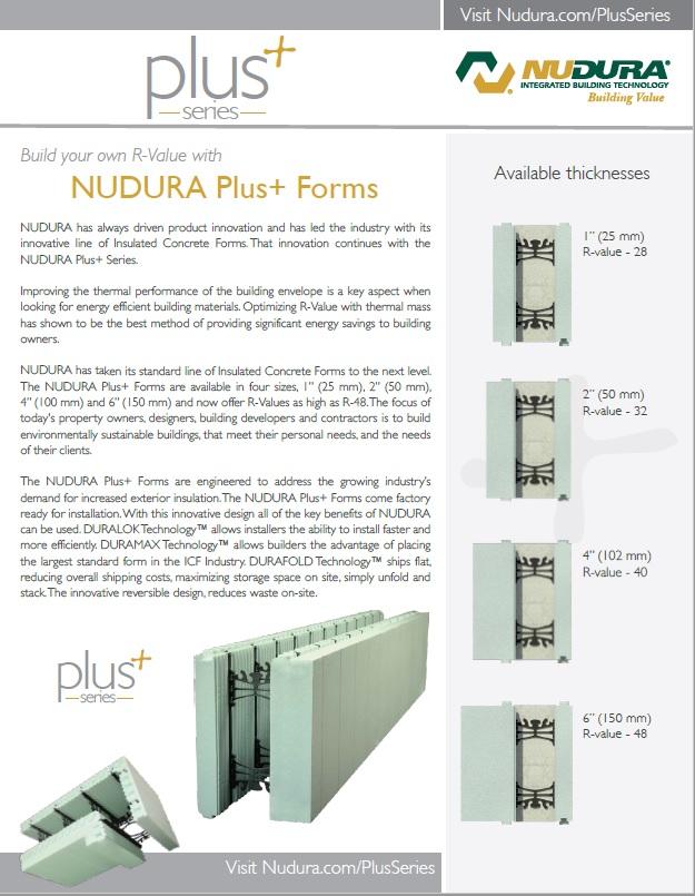 Download the NUDURA Plus Brochure