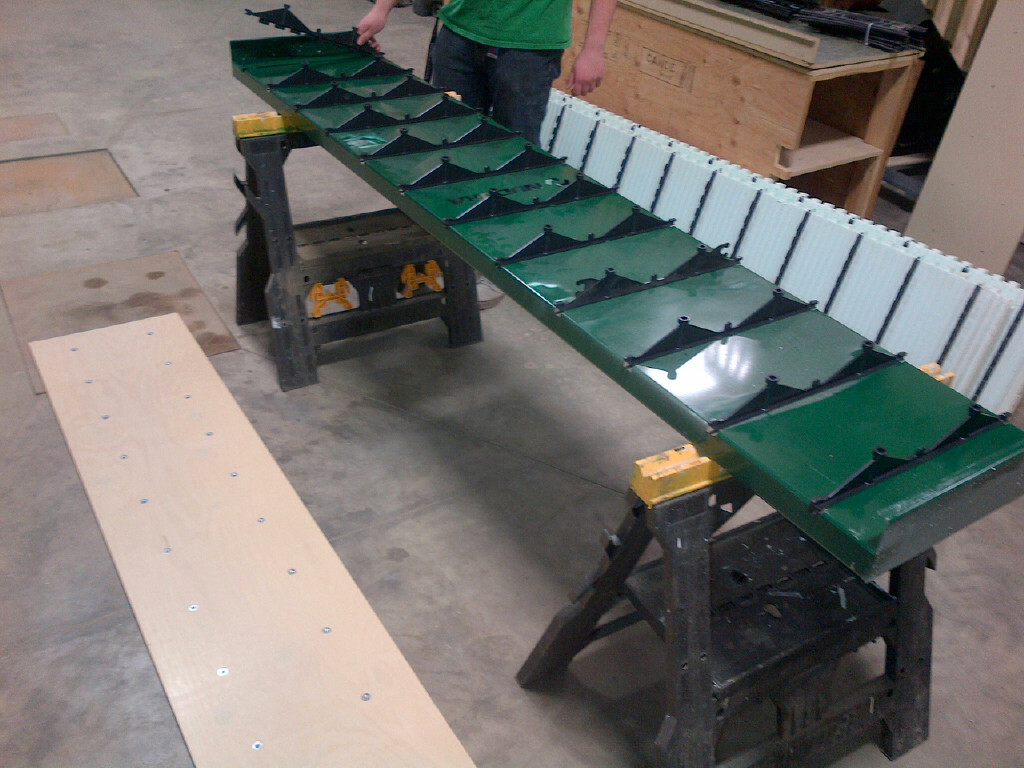 Using NUDURA's One-Jig, place Multi-Link Ties in spaces provided