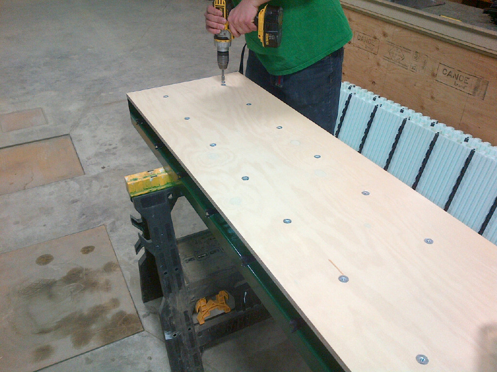 """Attach pre-drilled form ply to Multi-Link Ties with NUDURA 2"""" Hex Screws"""