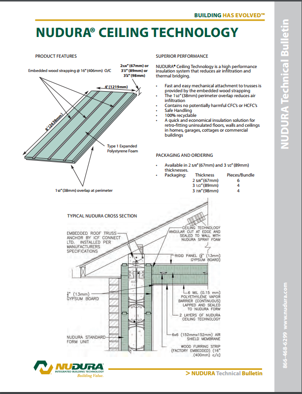 NUDURA Ceiling Technology