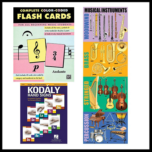 Our recommendations on educational materials  We selected music flash cards, posters and books to enhance your learning experience.