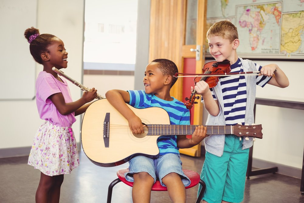 Children can build many of the same communication and teamwork skills whether they are in music lessons or sports.