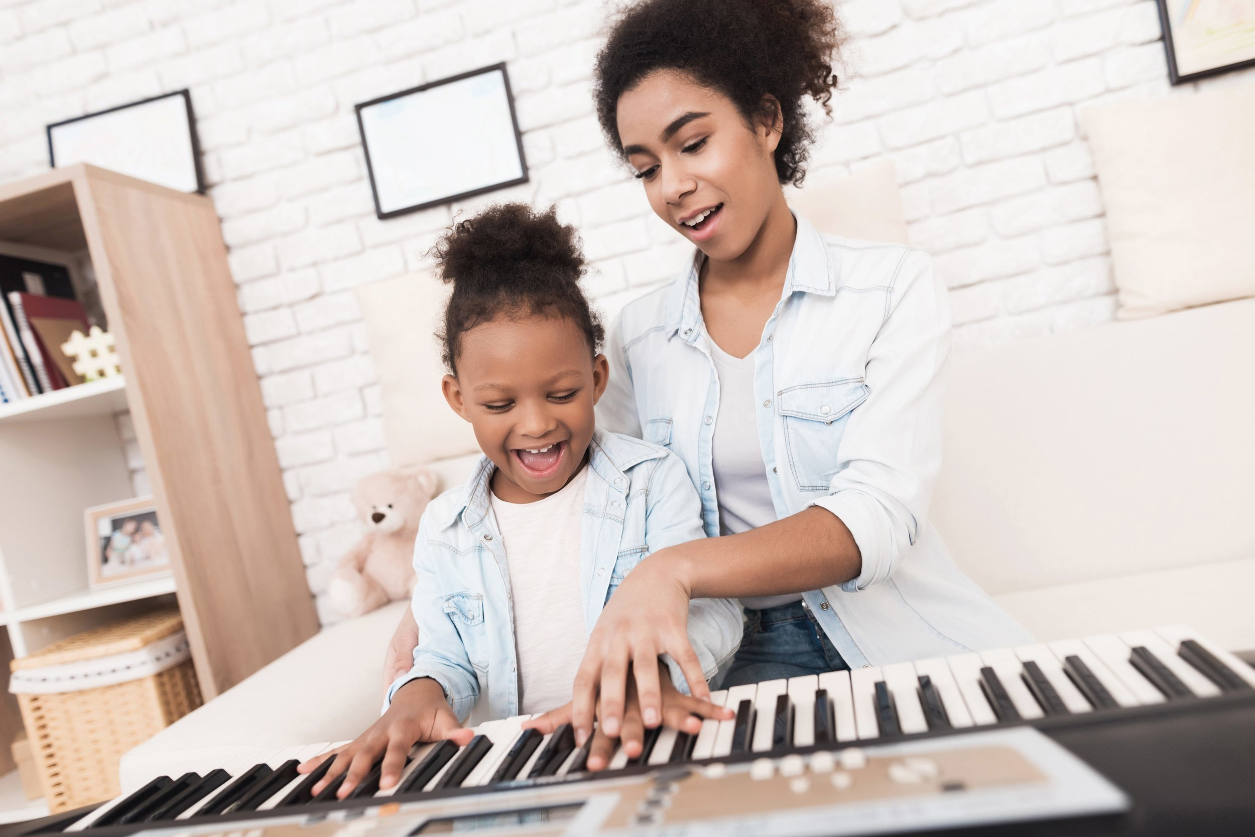 Helping child stay focused on small goals and incremental progress will minimize her frustrations with her music studies.