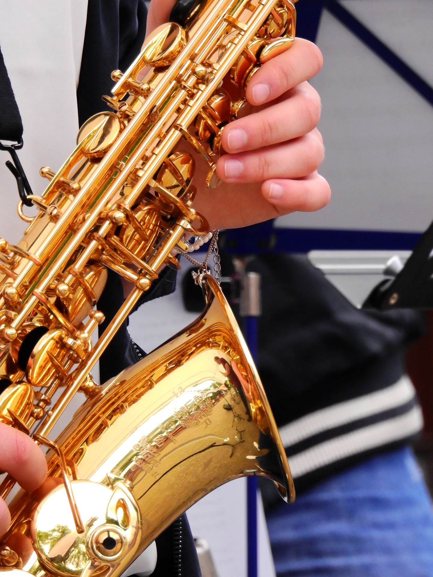 The saxophone has been also constructed with other material than brass