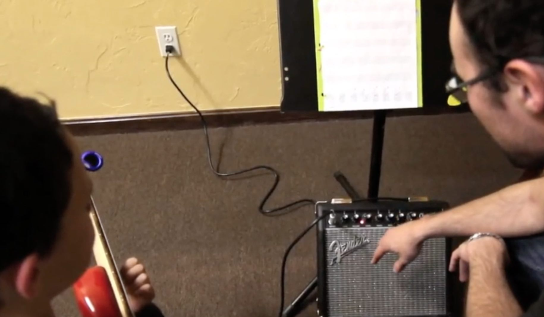 Private guitar lesson  at Stage Music Center in Winchester MA