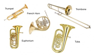 Some of Brass Instrument Family most know instruments: Trumpet, French Horn, Tuba…