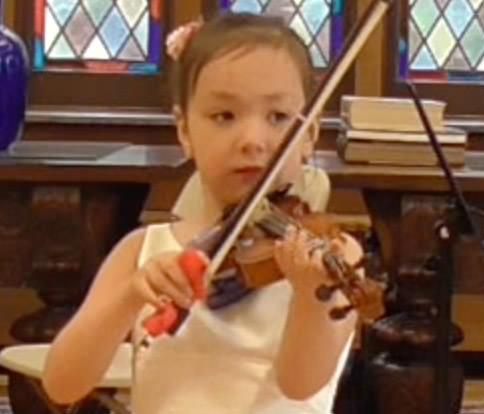 Playing an instrument in public builds self confidence at a young age