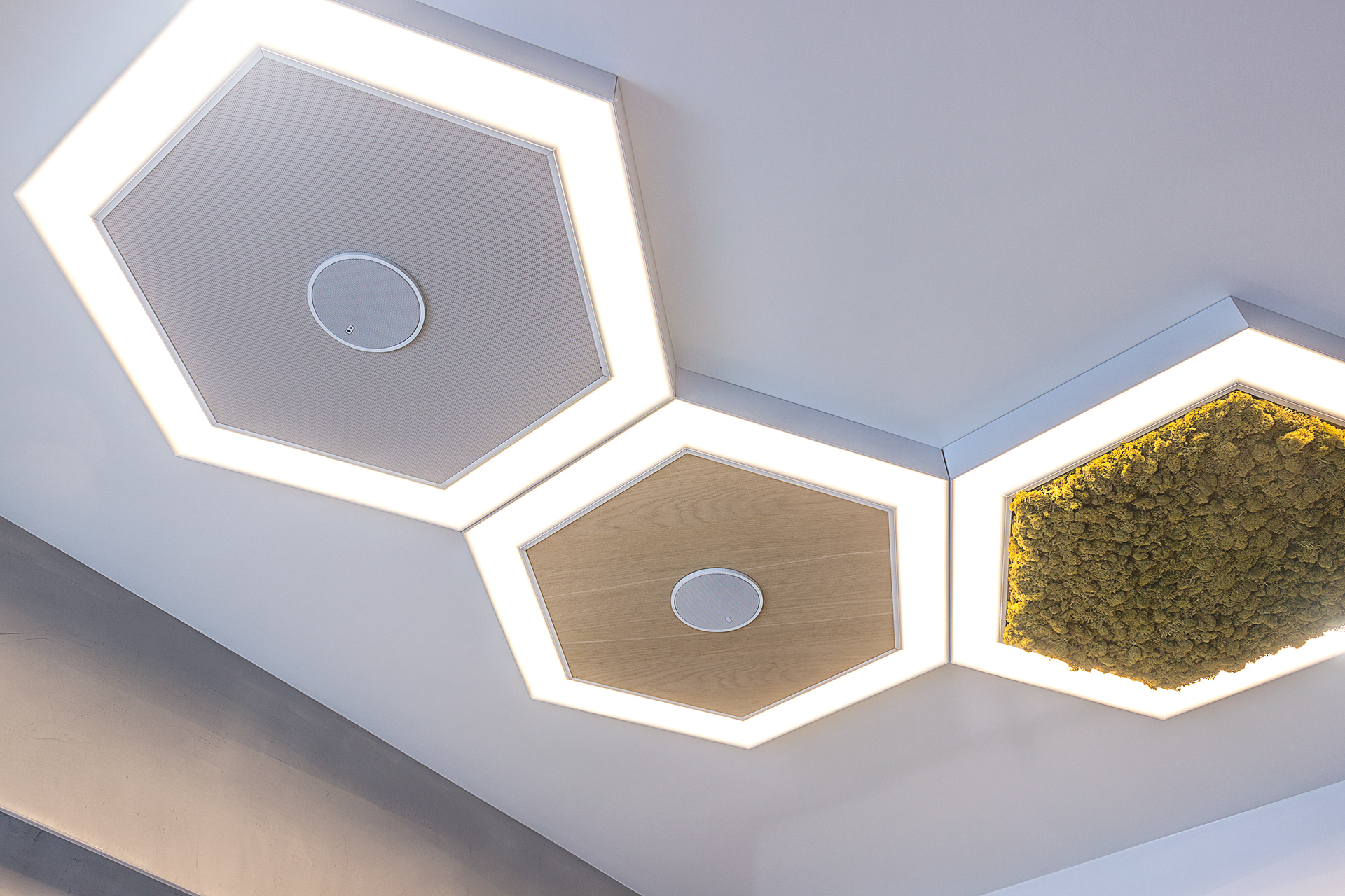 An innovative modular system for the creation of light lines and structures in suspended ceilings
