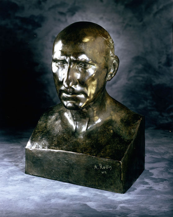 """Auguste Rodin,  Bust of Jean Baptiste Rodin , bronze, 16 1/8"""" x 11 1/4"""" x 9 1/2"""", Executed: 1860; cast: Musée Rodin 2/12, 1980. Collection Iris Cantor."""