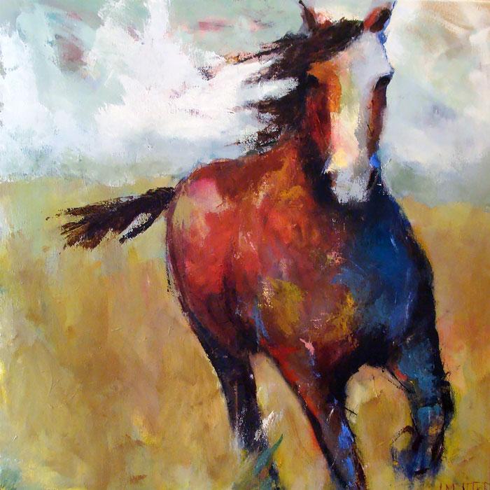 "Lisa Moore,  Misty Morning , oil on canvas, 48"" x 48"""
