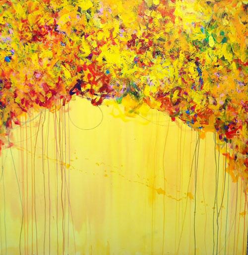 """Don Mertz  Rise and Shine ,acrylic, 48"""" x 48"""""""