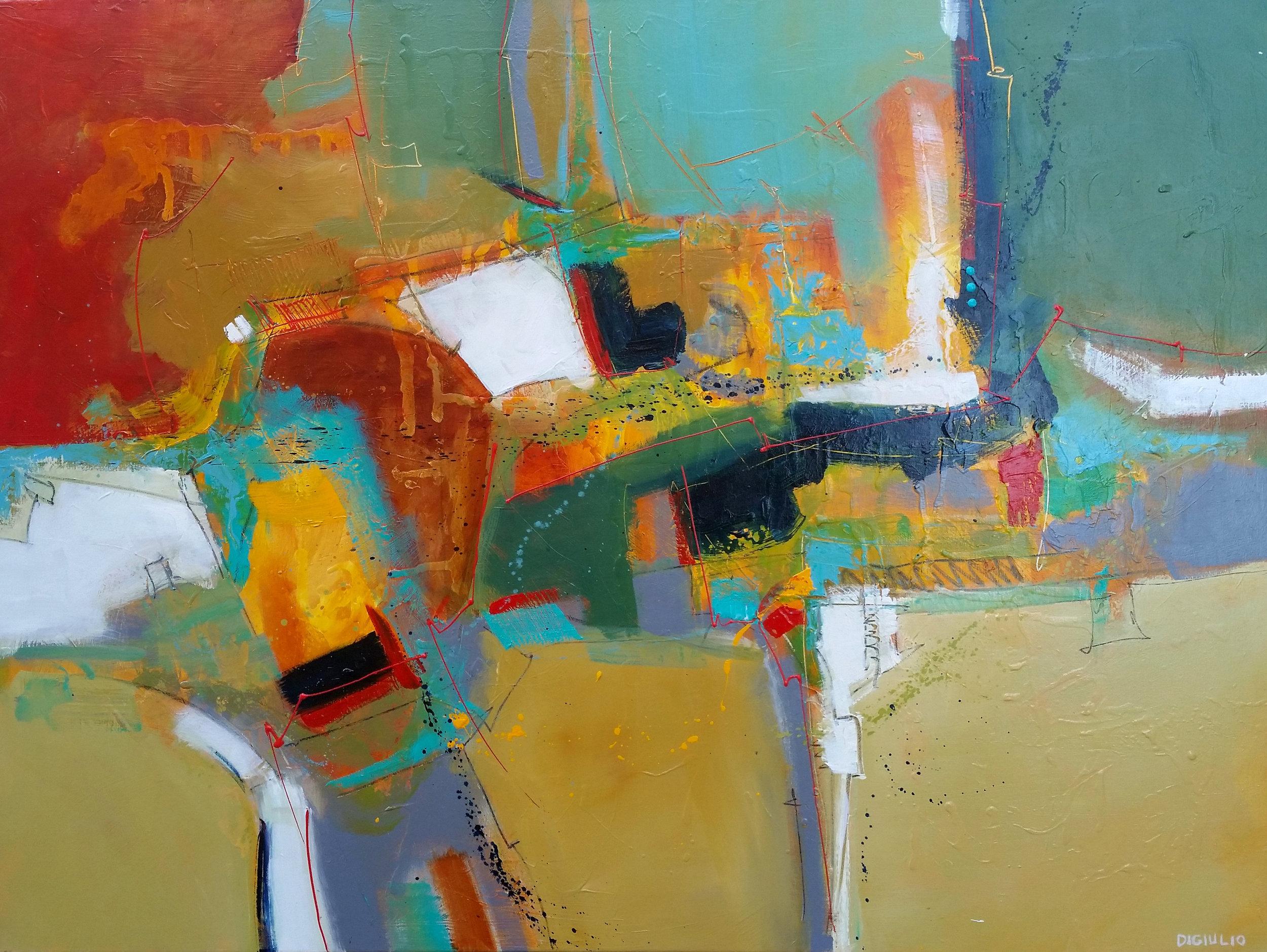 "Joseph DiGiulio,  Wrightsville 48361 , acrylic, 36"" x 48"""