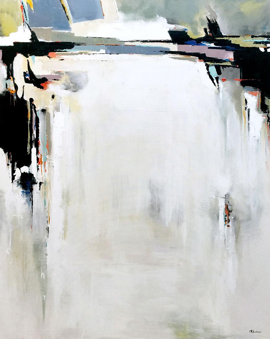 "Aziz Kadmiri, Niagra,acrylic on canvas, 60"" x 48"""