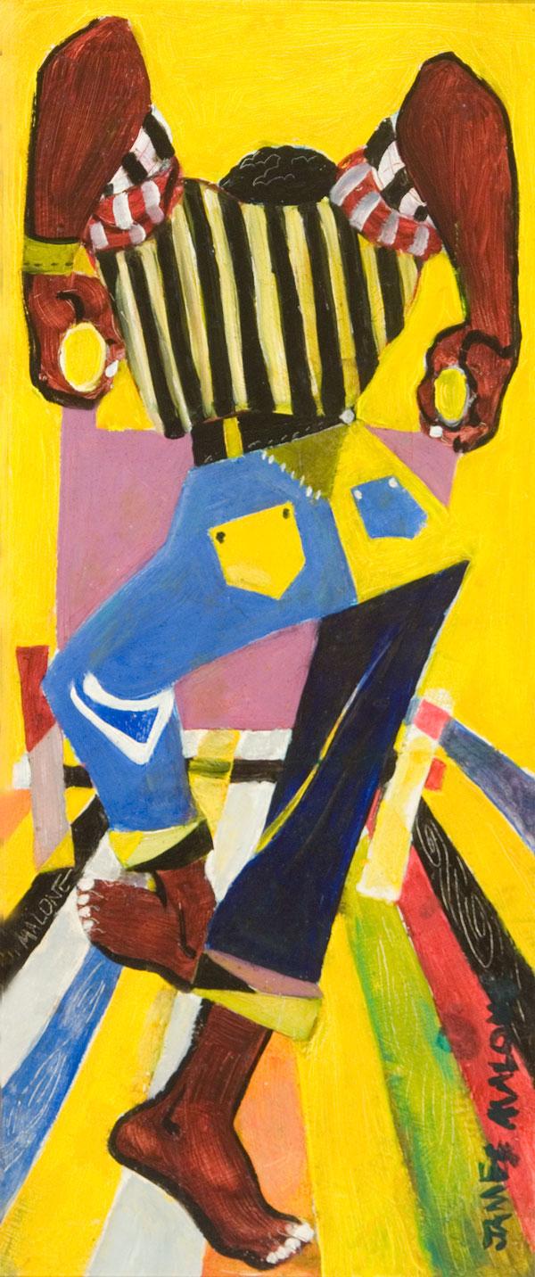 """Hiram Malone (American, 1930-2011)  The Stevedore , 1949, oil on board, 29""""x22"""""""