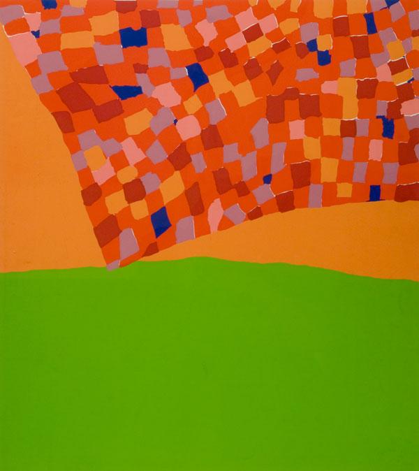 "Mildred Thompson (American, 1936-2003)  Open Window Series V , 1977, serigraph, 24""x21"""