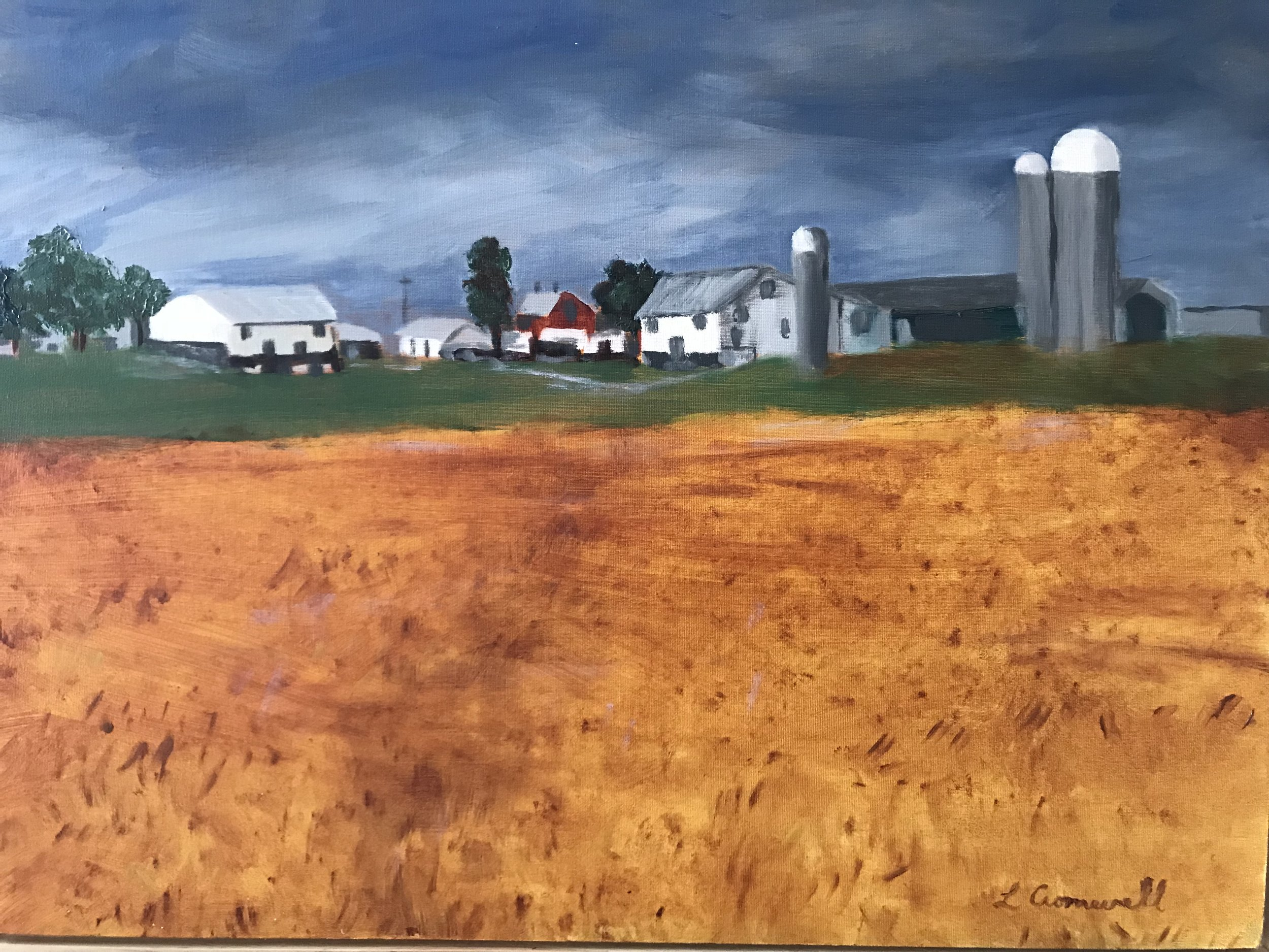 Linda Cromwell - Image: FarmsteadLinda Cromwell is an oil painter but occasionally works in other media. Whether painting animals, florals, landscapes, people or still life, her love of color is what links her work together.