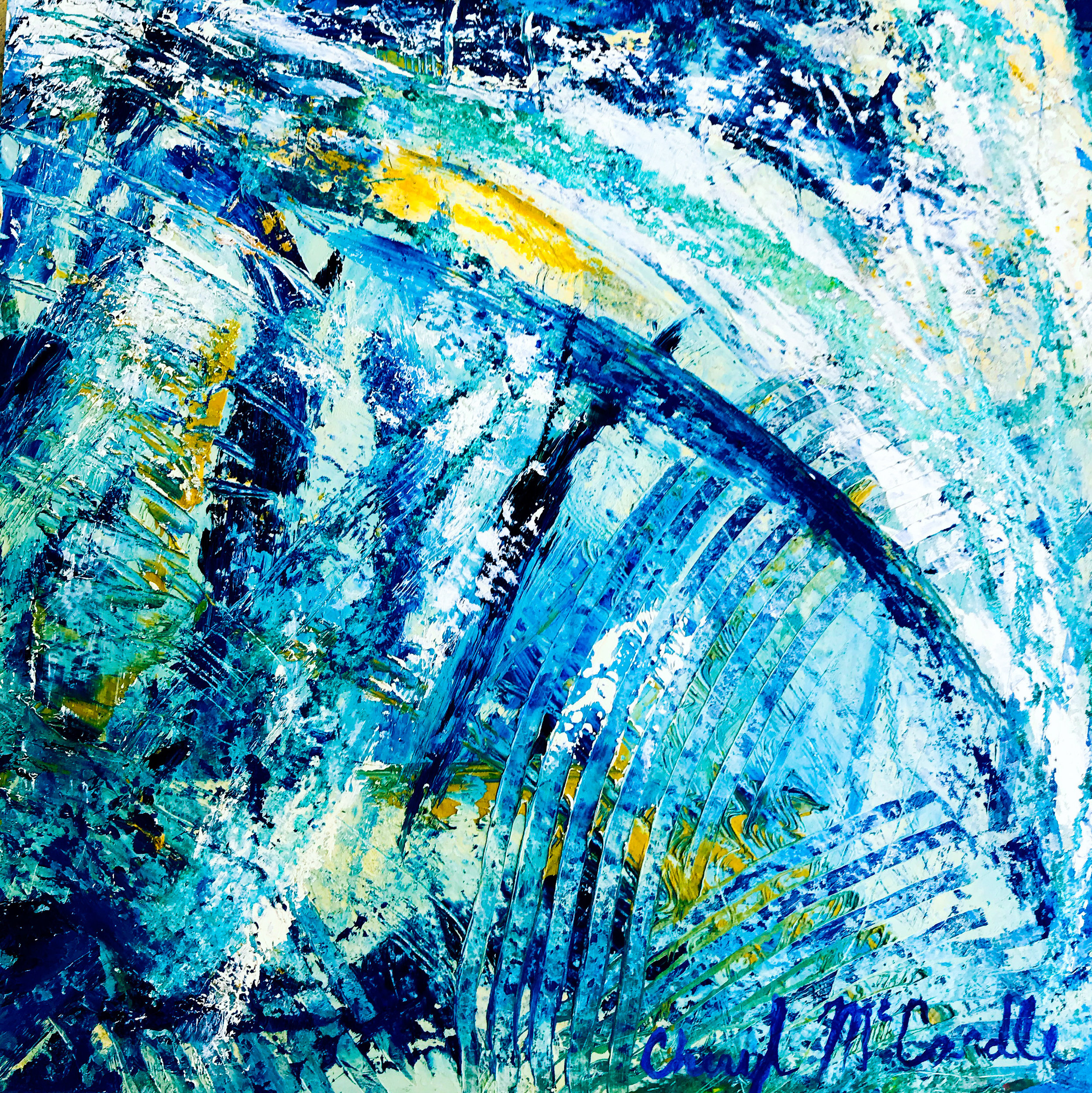 Cheryl Michaela McCardle - Image: UndertowCheryl has been painting and sculpting since 1990. Her art is expressionistic and inspired by nature. She works intuitively and uses many layers of paint to achieve rich textures.