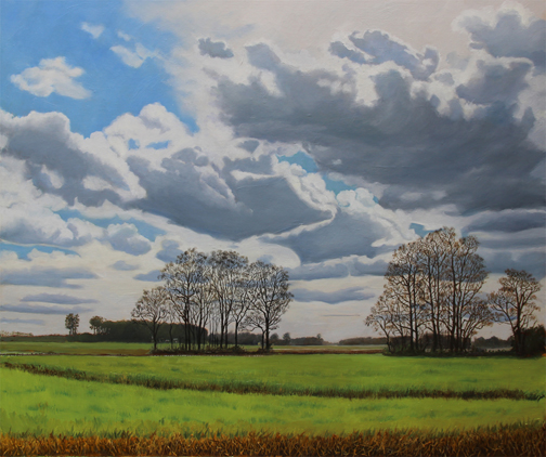 CARROLL LASSITER - Fast Moving CloudsCarroll Lassiter is an oil painter. She enjoys revisiting familiar regional landscapes to record variations in light, season and mood.