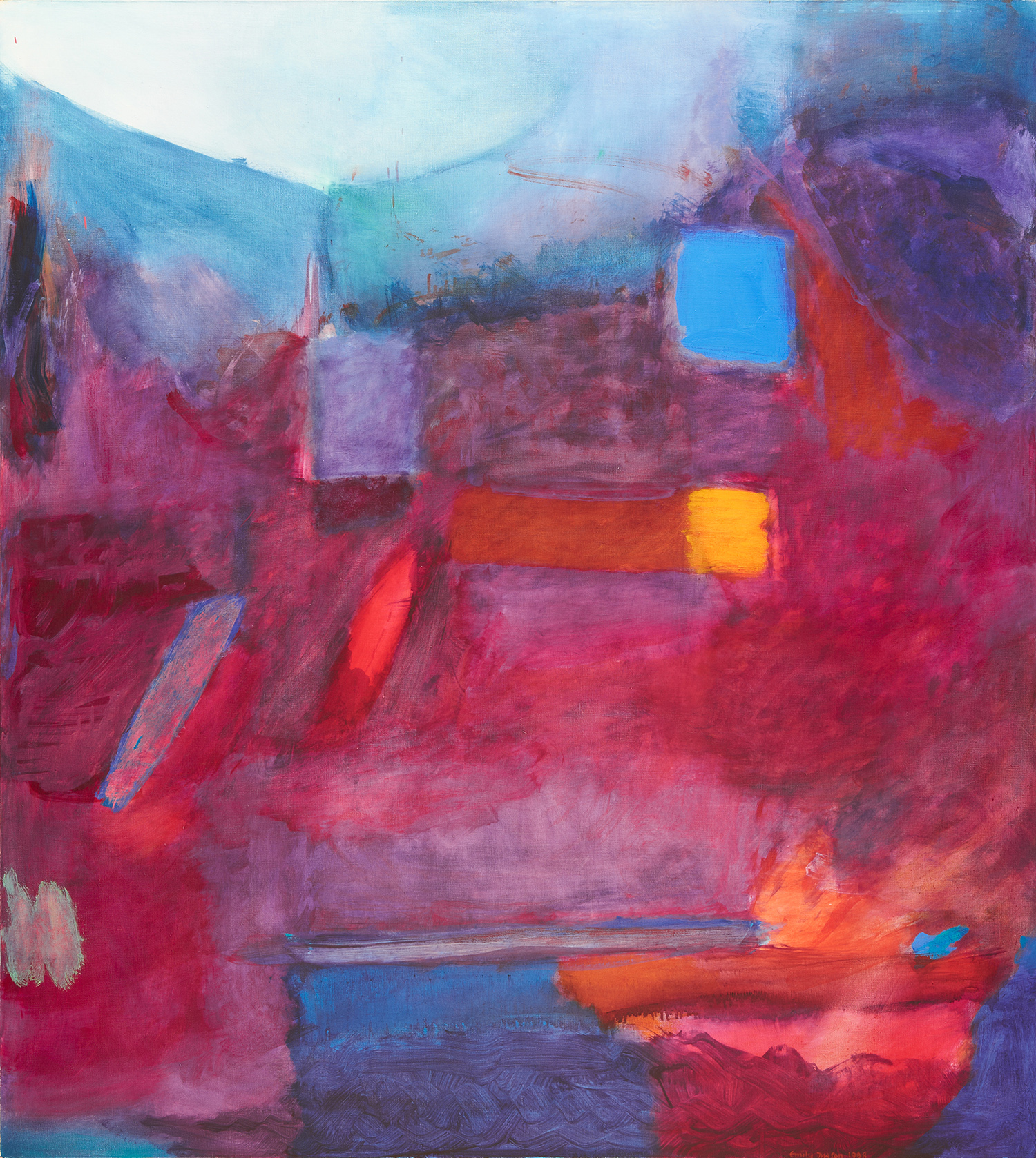 Emily Mason,  March is Heard , 1998, oil on canvas, courtesy of LewAllen Galleries, NM