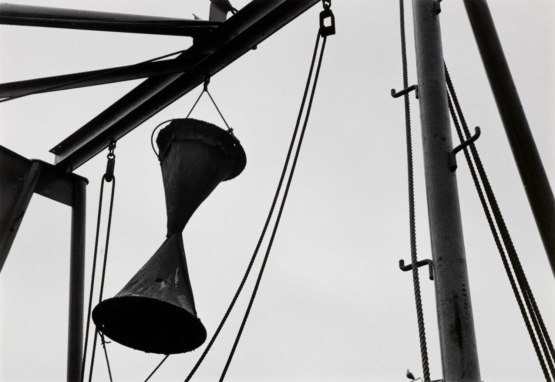Ralston Crawford, American (1906–1978). Fishing Boat Stern Rigging, 1971. Gelatin silver print, 9 3/8 × 13 9/16 inches. Gift of Neelon Crawford, 2015.49.41.