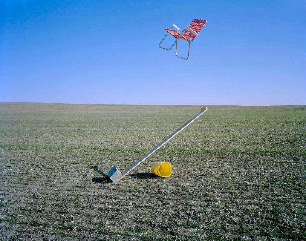 "Adam Ekberg, ""Lawn Chair Catapult,"" archival pigment print"