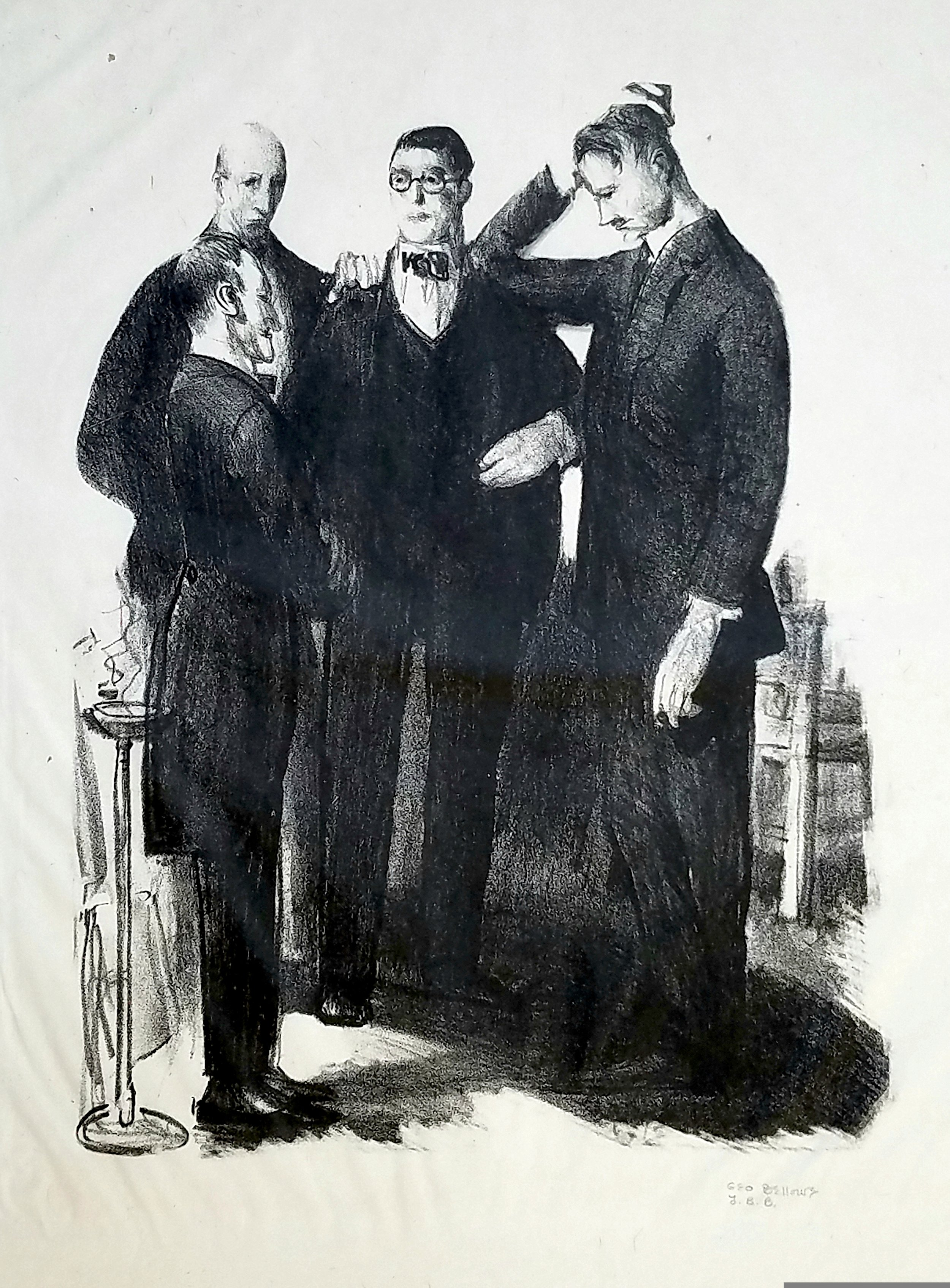 George Bellows,  Four Friends,  1921, lithograph, 10 1/4 x 8 in. The Historic Woodstock Arts Colony: Arthur A. Anderson Collection. Photo Credit: Eric R. Lapp