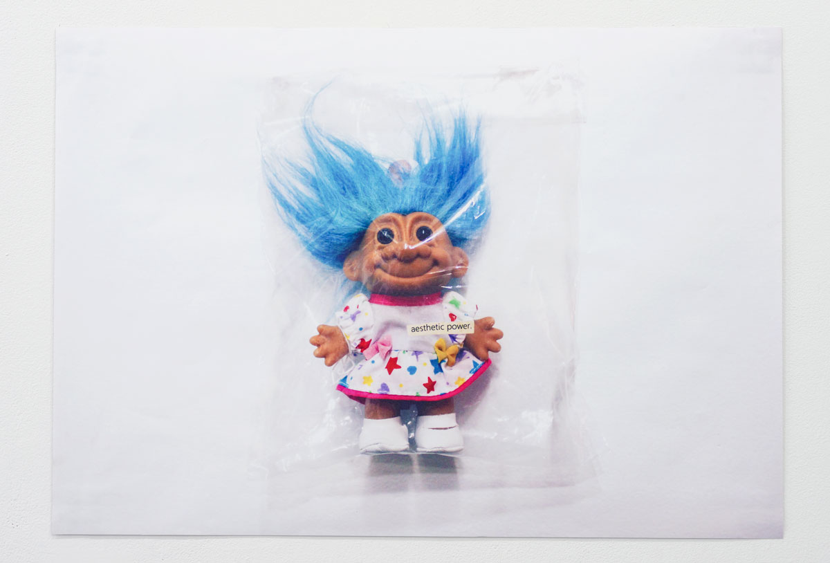 "Troll (aesthetic power) , 2017, digital print on sticker, 39"" x 27½"""
