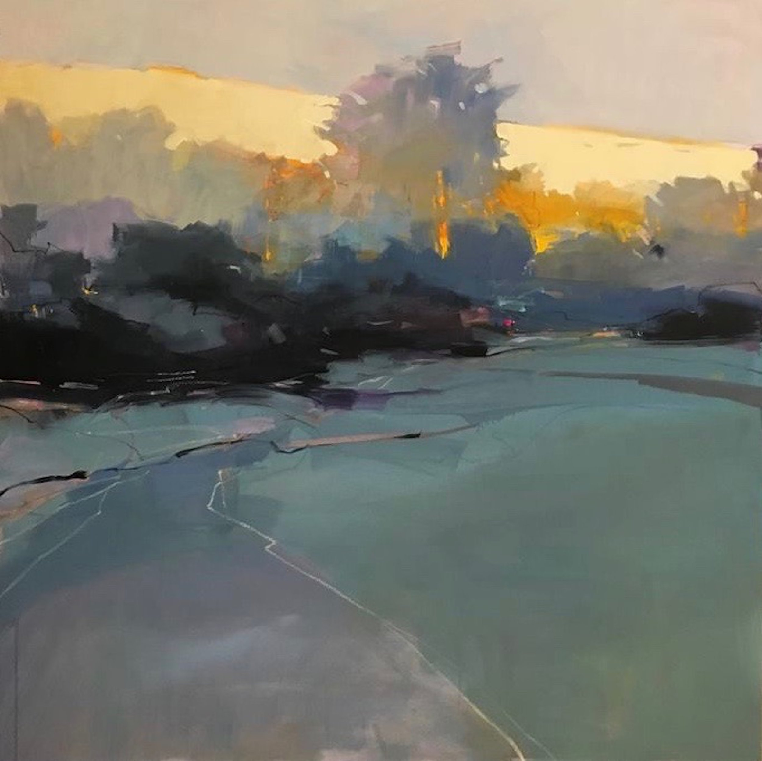 Julia Jensen,  Backstory , 2018, oil on panel