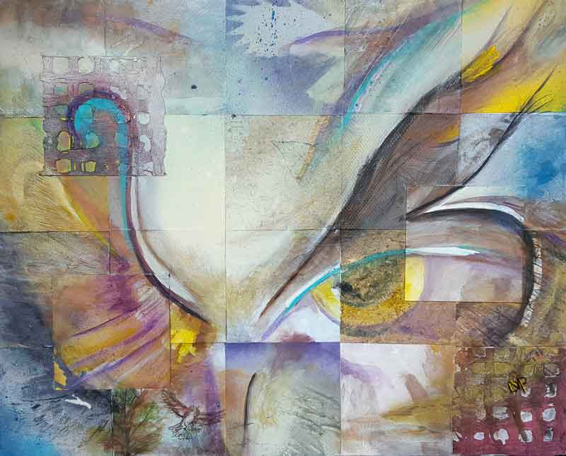 Delphine Peller,  Owl Abstract 2