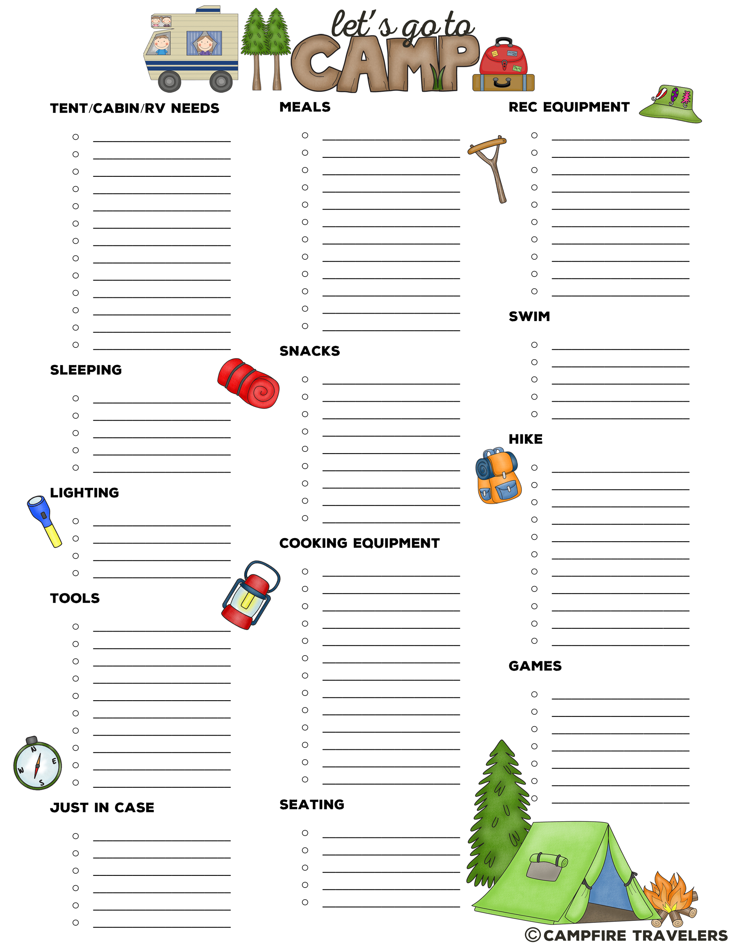 Personalized Camping Packing List