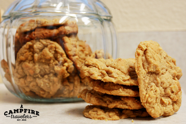 Campfire Travelers - Oatmeal Peanut Butter Cookies