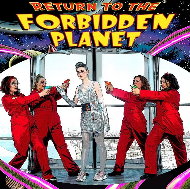 Ariel the robot says book your tickets now for Return to the Forbidden Planet! #entertainment #actorslife #rocknroll #musicals #brighton #acting #sciencefiction #drama #whatsonbrighton #brightonfringe