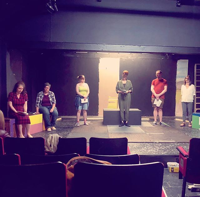 First rehearsal on the stage yesterday for #MaryStuart