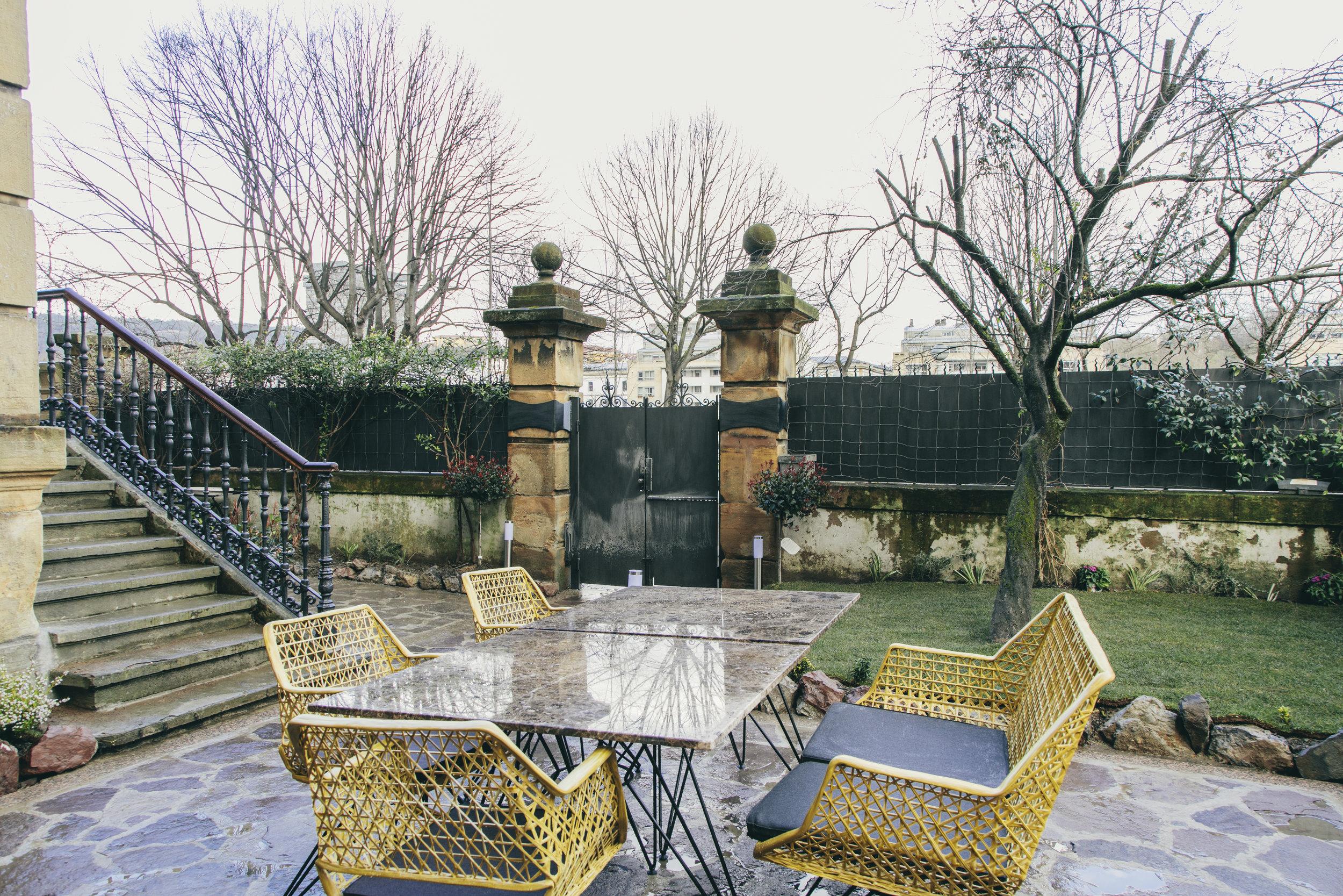 El jardín -