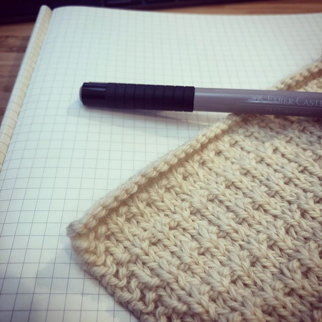 Rational me: Is there room for one more thing this fall? Also me: Nah, lady, there's always room for one more... #swatching #fall19 #newdesigns #secretknitting #vaguestagram #comingsoon #americanmade