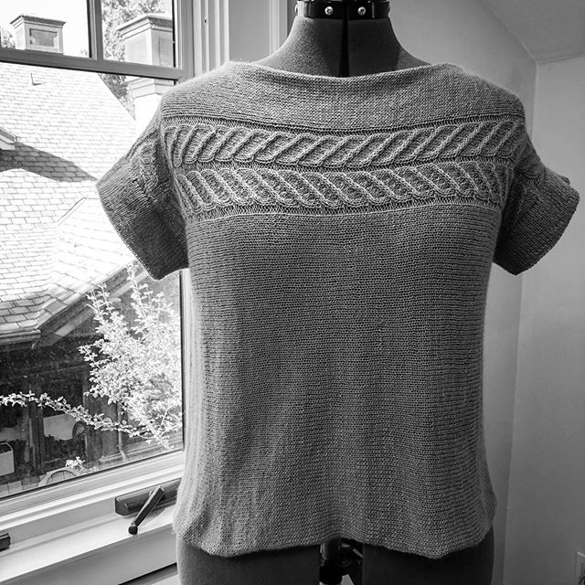 "Testing Call! Up for a little late-summer test knitting? I'm looking for up to 2 testers PER SIZE for this tee, to be knit in your favorite heavy lace/fingering/light sport weight yarn, with a sideways construction I'm kind of loving these days. Pattern is sized XS to 7X and designed with 8-12"" of positive ease at the bust, with finished circumferences of 40 (44, 48, 52, 56, 60) (64, 68, 72, 76, 80)"". Deadline 9/9 (with a little wiggle room). Please leave a comment below or send me a DM if you're interested, including what size you'd like to make! #testknitting #sizeinclusive #summerknits #knittedtee #quinceandco #comingsoon #fall2019"