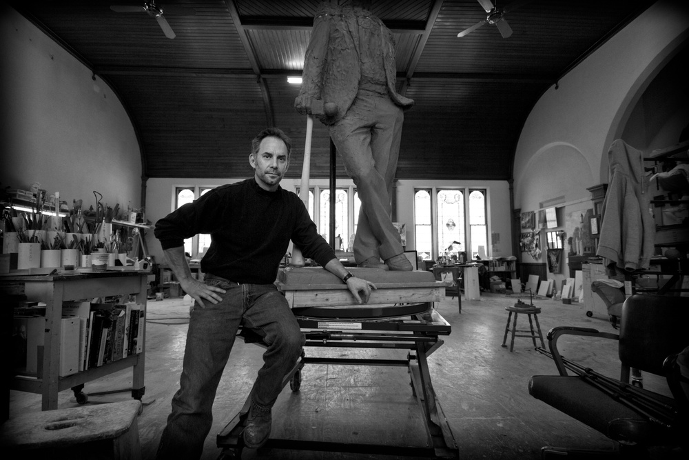Larry in his Windsor studio, 2011  Photo by Nathan Larson