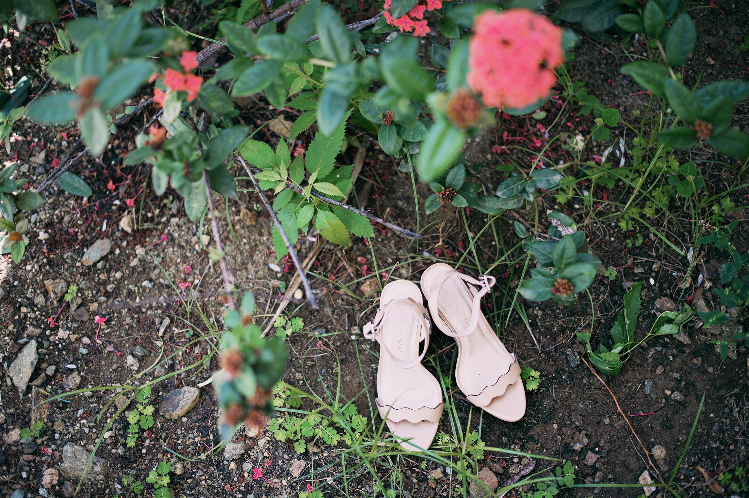 St Thomas USVI wedding shoes