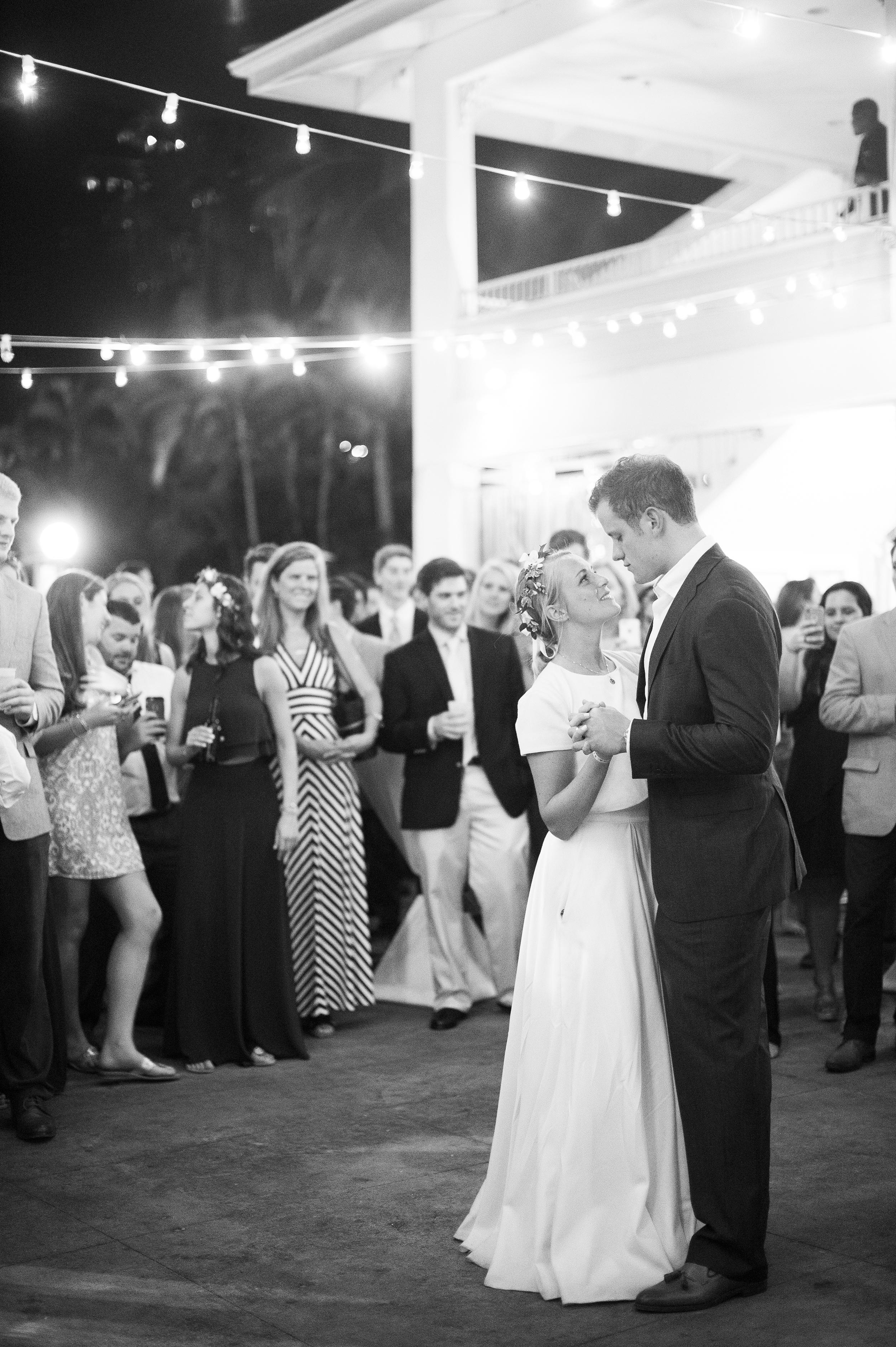 bride and groom dancing at havana blue in st thomas us