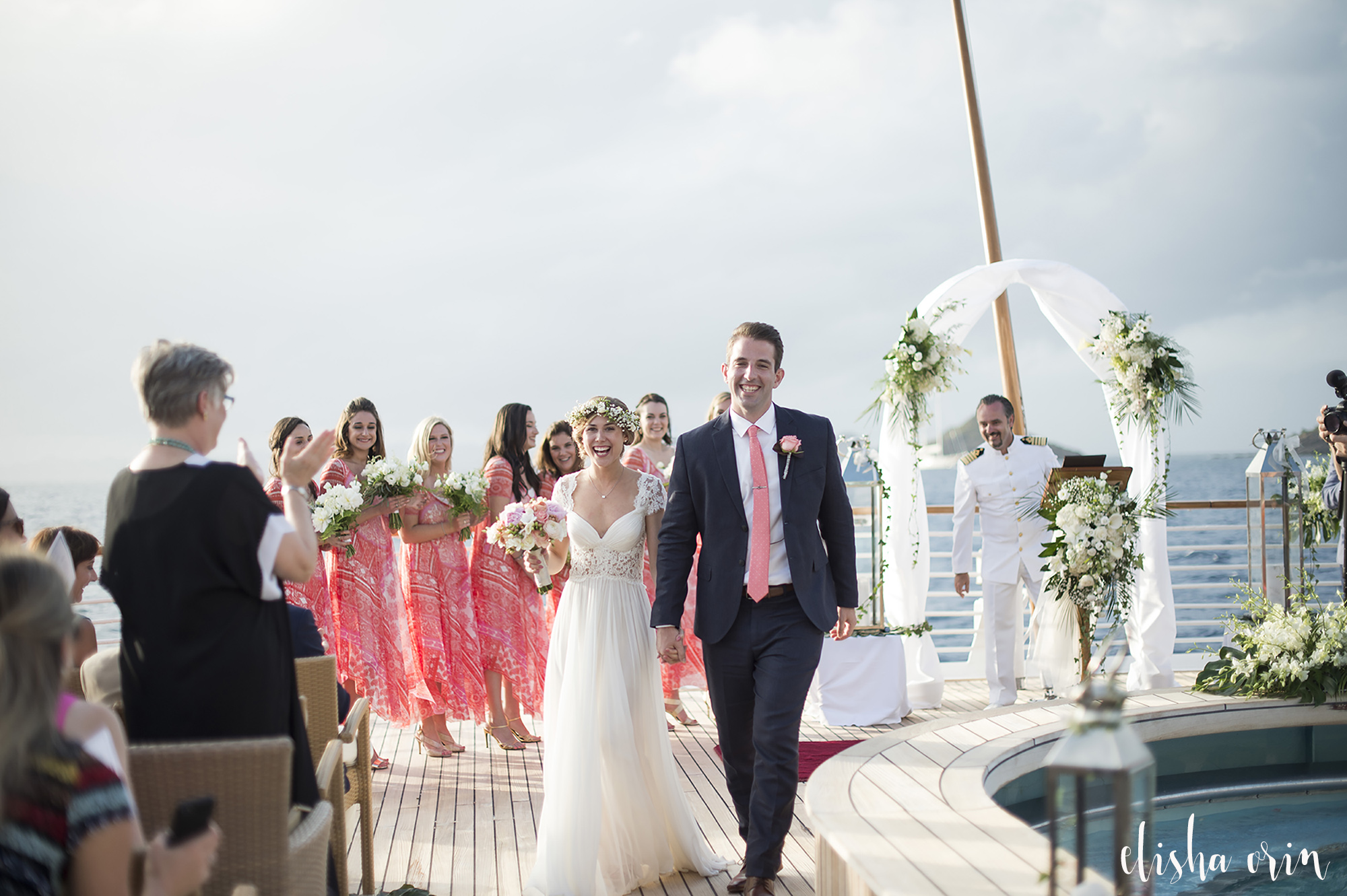 bride-and-groom-walking-down-aisle-after-being-married-on-st-barts