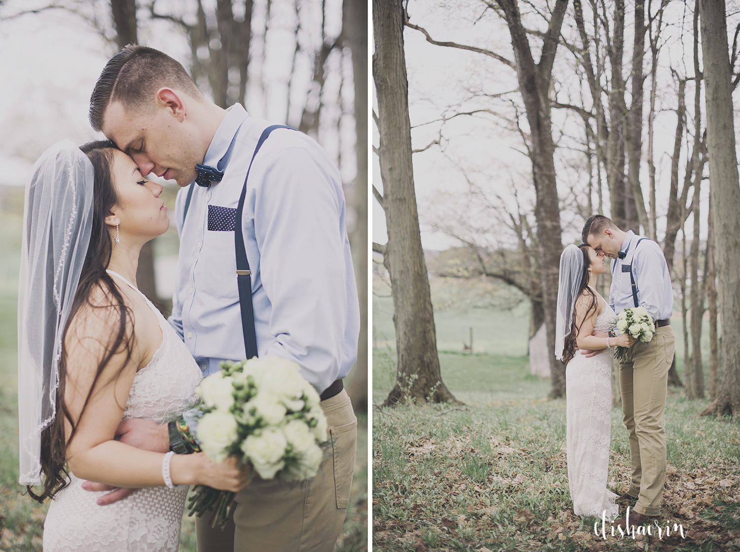 bride-and-groom-foreheads-together