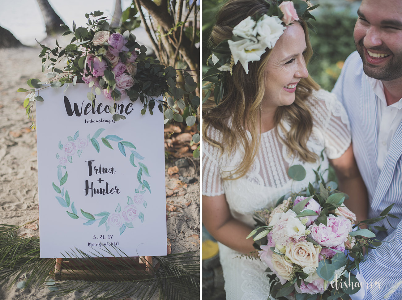 bride-and-groom-wedding-sign-at-maho-beach-taken-in-st-john-by-elisha-orin-photography