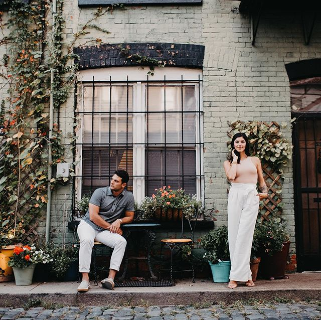 A grand meeting in Hoboken with the handsome LJ and his girl @alexandracaminiti_  #newyorkcity #hoboken #thankyoupeoplewiththebeautifulplace #engagmentsession #newjerseyweddingphotographer #flowers #cobblestone #cobblestonestreets #gettingmarried #hot #prettyplaces #thebigapple #pier #gettingmarried @breckthebondgroup