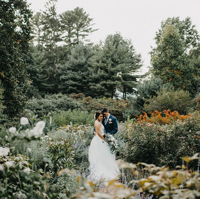 Give me a garden all by itself and I dont wanna take a photo but drop in a couple in love and I'll I wanna do is click away ! #morrainefarmwedding #bostonweddings #brideandgroomingarden #flowers