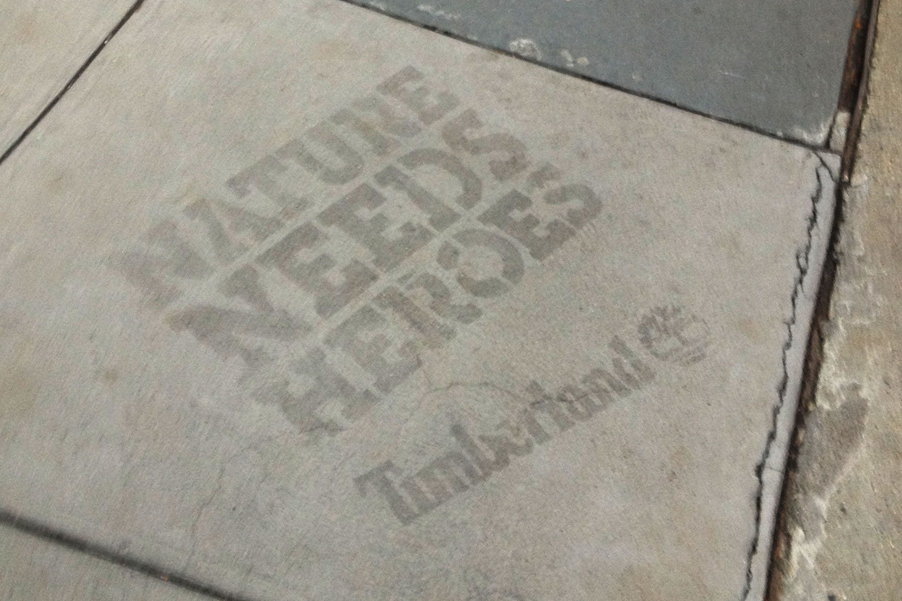 Sidewalk Powerwashing Green sidewalk ads