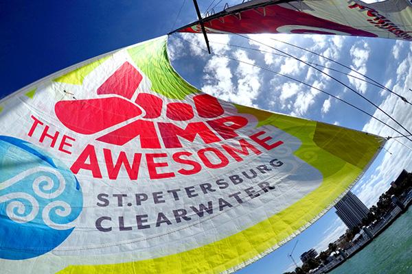 Sailing billboard - photosails - sailboat advertising