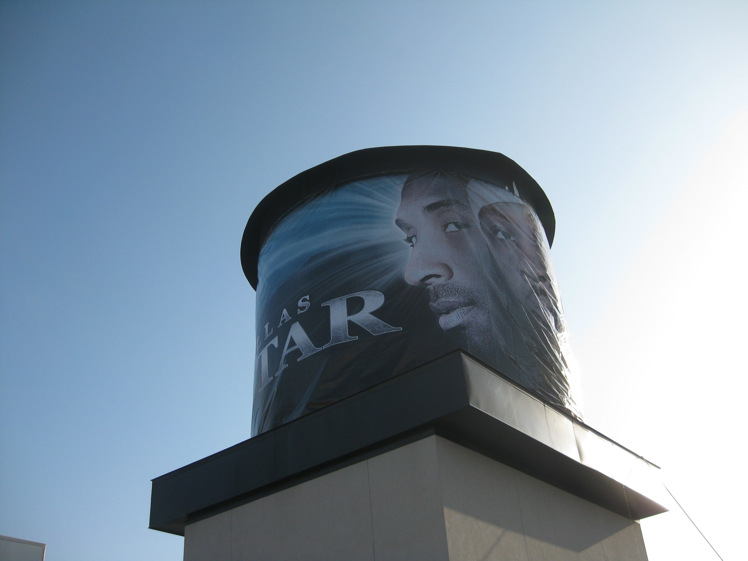 Water tower wrap in Dallas