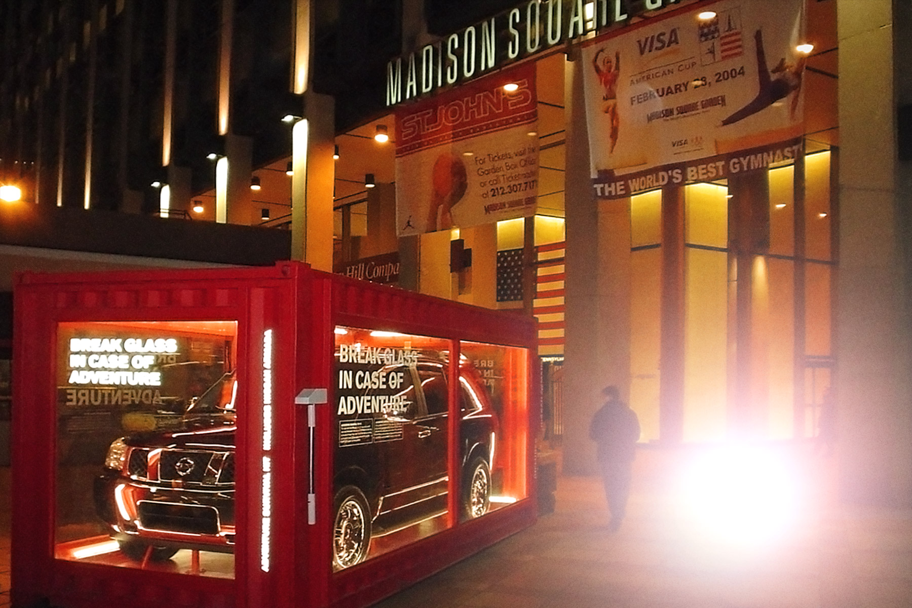 Pop up shops and advertising vending machines