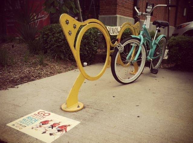 College Bicycle advertising